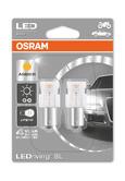 Osram LED Amber Indicator Bulbs P21W 382A BA15s Bayonet Orange Light 7458YE-02B