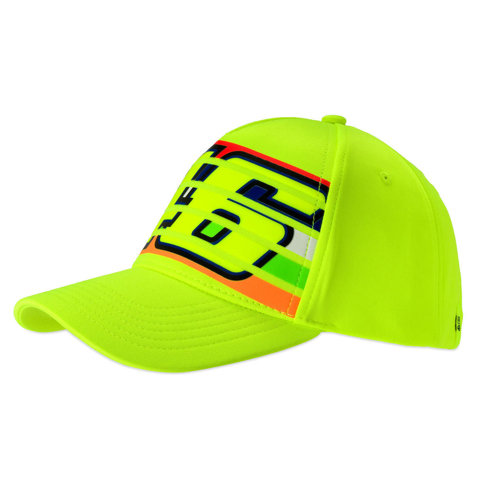 VR46 Valentino Rossi Flou Yellow Baseball Cap Adult Size Official Merchandise
