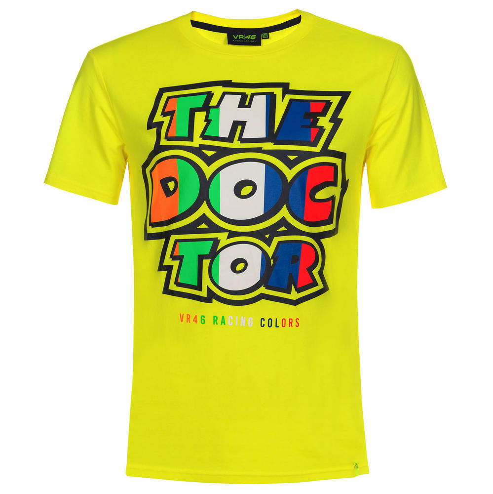 VR46 Valentino Rossi The Doctor Yellow T-Shirt in Men's Sizes XS-XXXL Adult Male