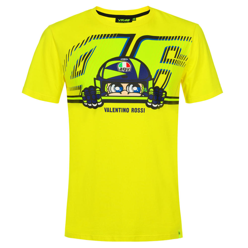 VR46 Valentino Rossi CUPOLINO Men's Yellow T-Shirt Official Merchandise