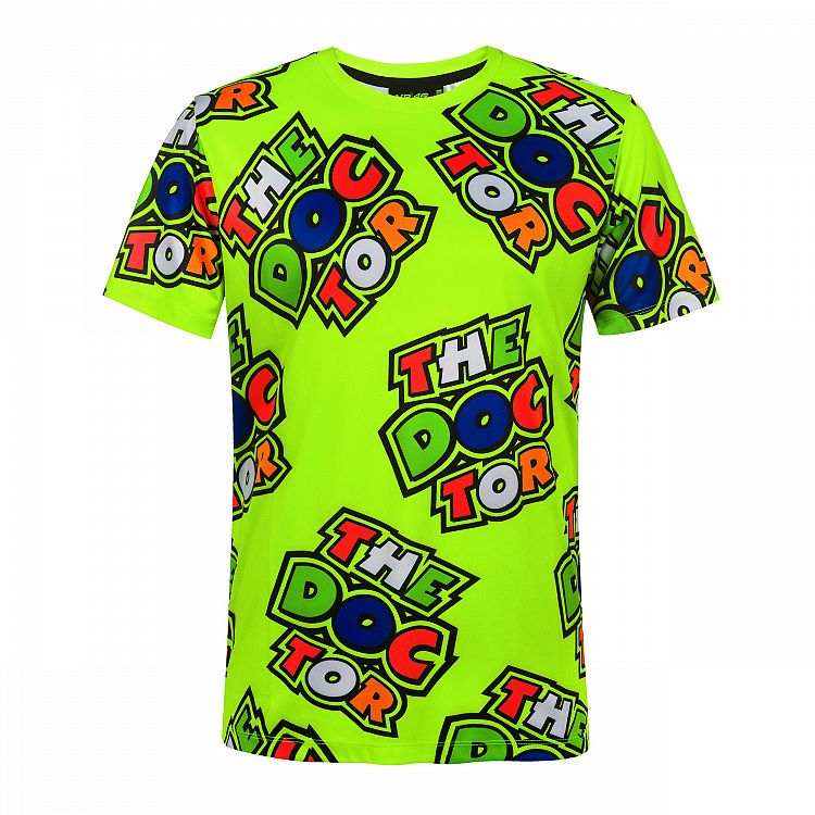 VR46 Valentino Rossi 46 THE DOCTOR Men's T-Shirt All over Print #46 Official