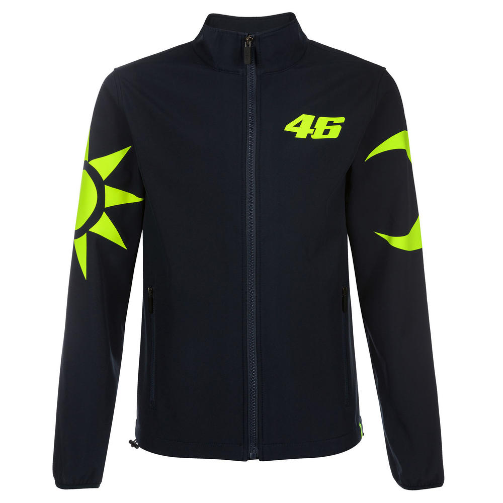 VR46 Valentino Rossi SOLELUNA Mens Softshell Jacket Coat Blue Sizes XS-XXXL