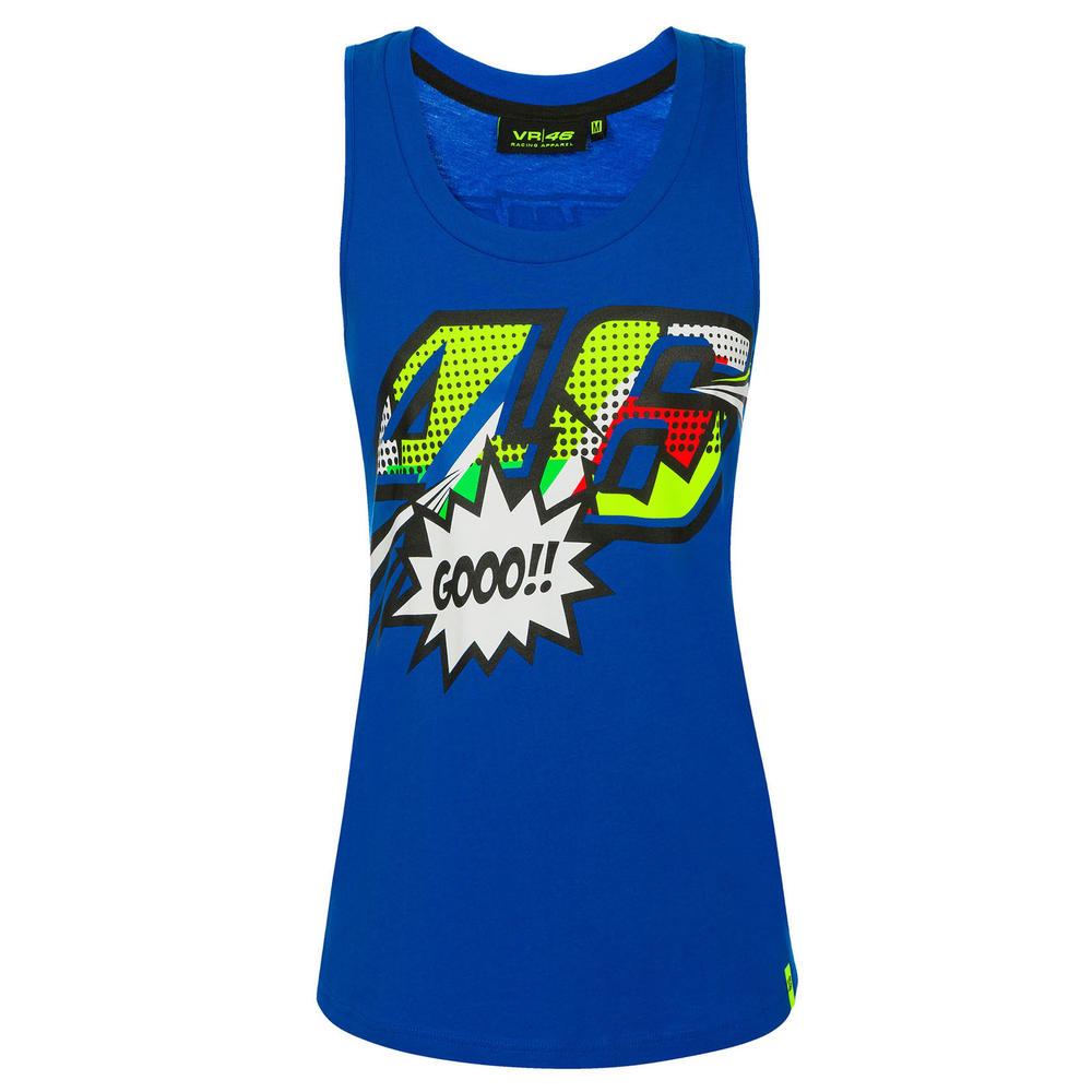 VR46 Valentino Rossi Ladies Tank Top Womens Pop Art Vest Tee Girls Sizes XS-XL