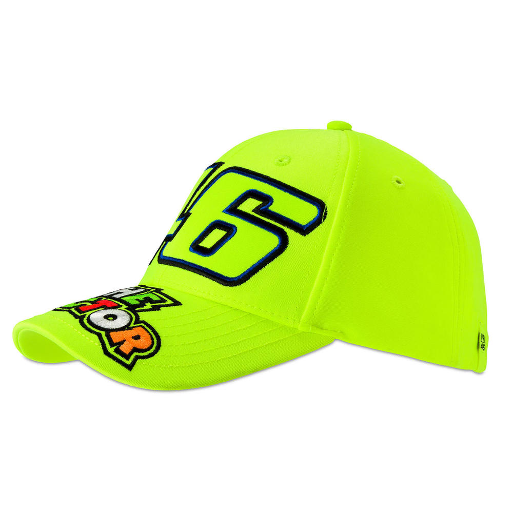 VR46 Valentino Rossi Kids #46 THE DOCTOR Flou Yellow Cap Children Junior Boys