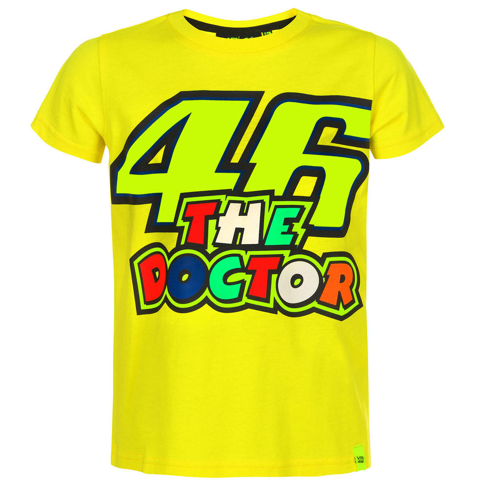 VR46 Valentino Rossi Kids 46 THE DOCTOR T-Shirt Childrens Junior Ages 1 to 14