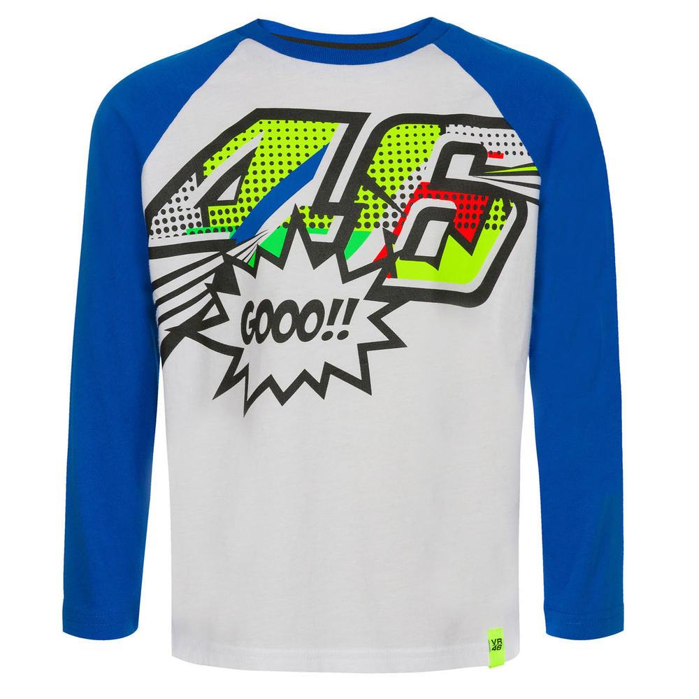 VR46 Valentino Rossi Kids POP ART Long Sleeve T-Shirt Childrens Junior Ages 1-14