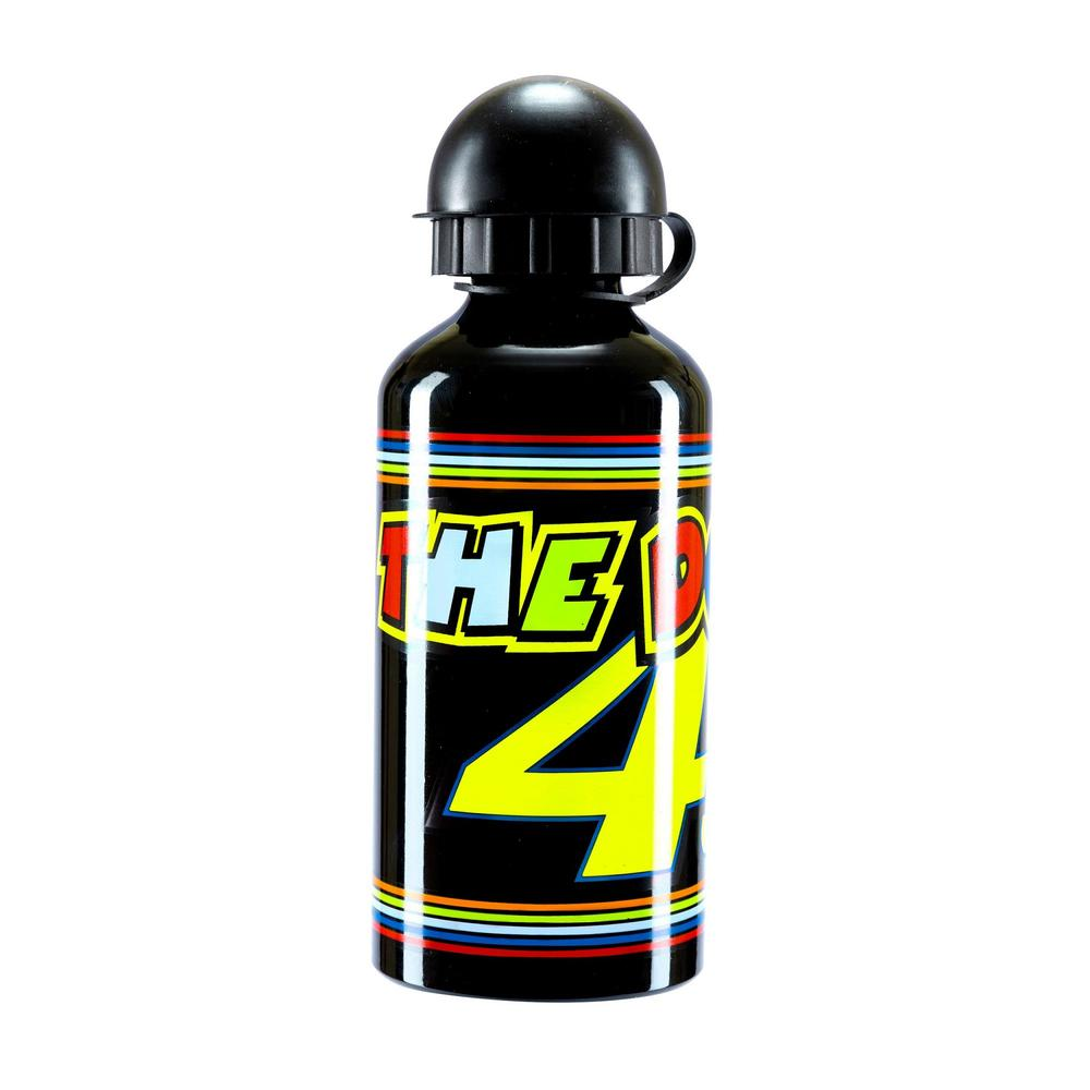 VR46 Valentino Rossi #46 Water Bottle Drinks Flask Black Stripes The Doctor 46