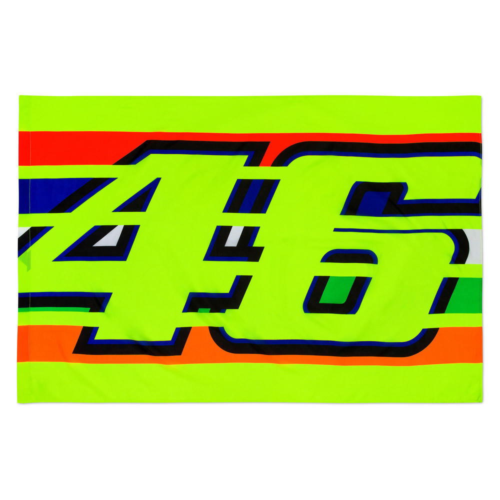 VR46 Valentino Rossi Official Supporters Fan Flag '46 STRIPES' 140x90cm Yellow