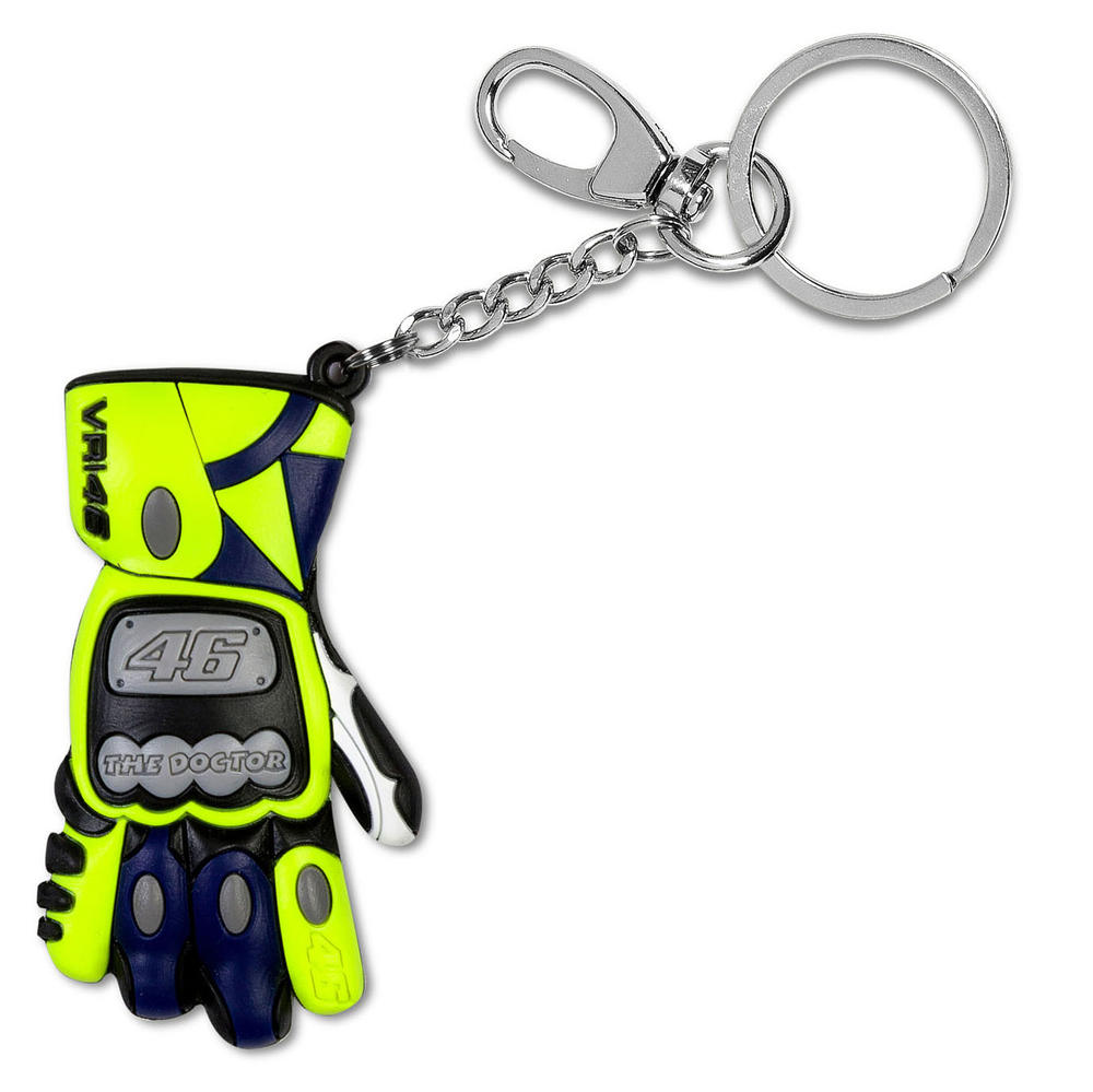 VR46 Valentino Rossi 3D RACE GLOVES Keyring Keychain #46 Official Merchandise