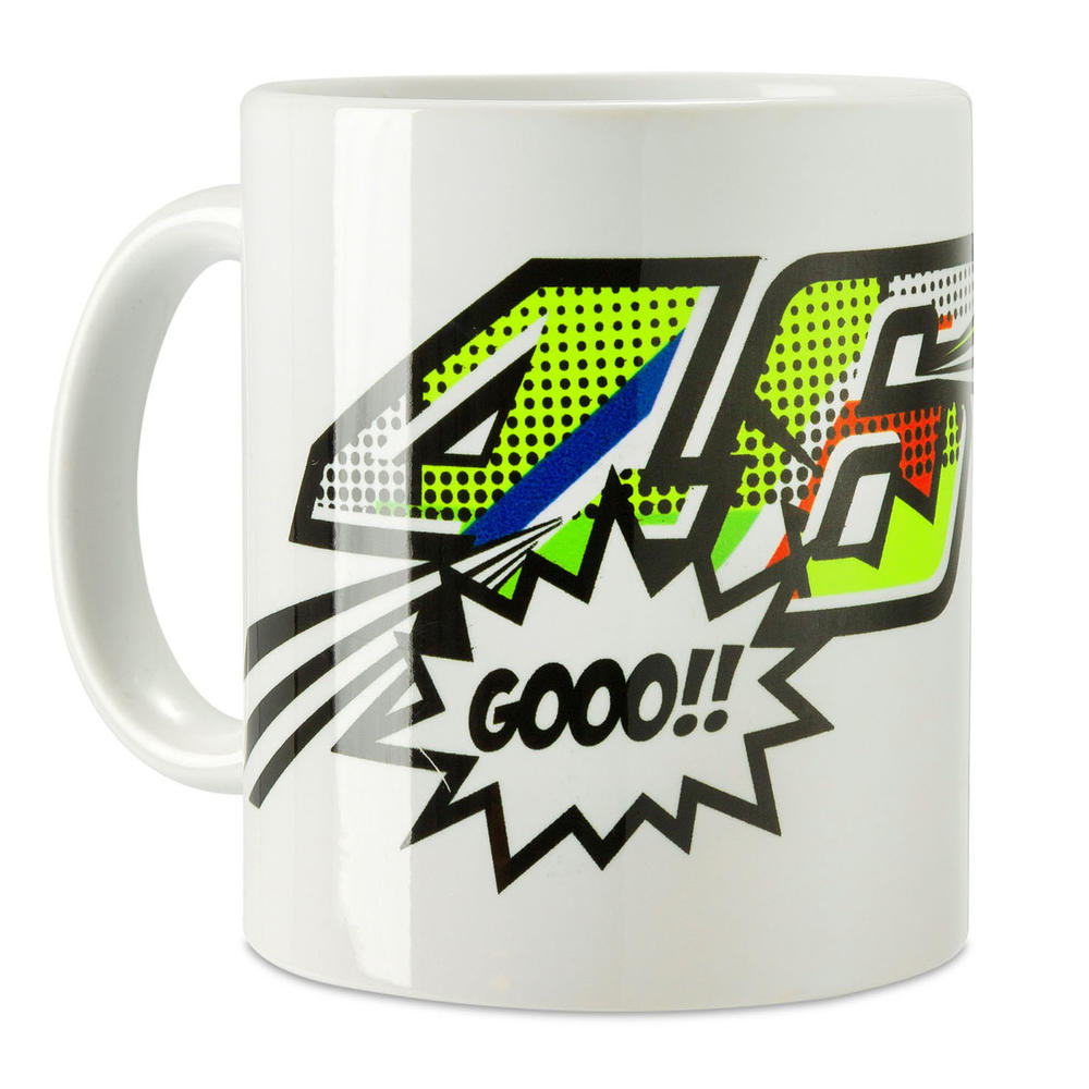 VR46 Valentino Rossi POP ART The Doctor Mug in White #46 Official Merchandise