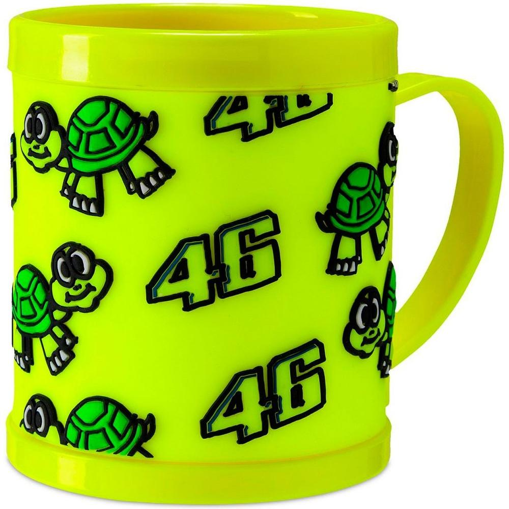 VR46 Valentino Rossi #46 Kids Plastic Mug Drinks Cup for Children Junior Toddler