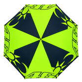 VR46 Valentino Rossi SOLELUNA Small Compact Umbrella Blue/Yellow #46 Official