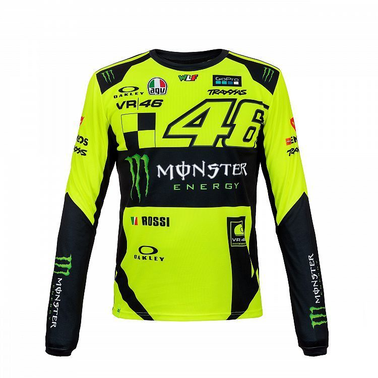 2019 Valentino Rossi VR46 Monster Mens T-Shirt Long Sleeve Official Merchandise