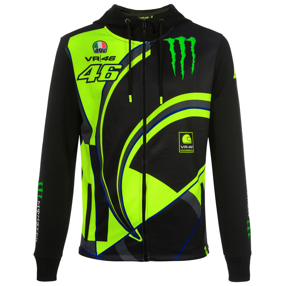 2019 Valentino Rossi VR46 Monster Mens Hoodie Hoody Jacket Official Merchandise