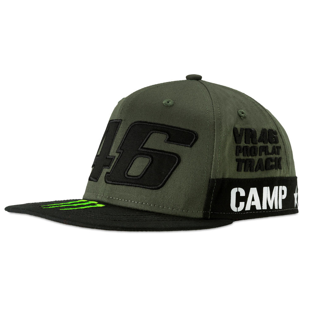 c223bb1d07586 2019 Valentino Rossi VR46 Monster Camp Cap Military Green Design Adult One  Size. Sentinel. Thumbnail 1