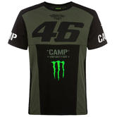 2019 Valentino Rossi VR46 Monster Camp Mens T-Shirt in Military Green Design