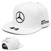 2019 Lewis Hamilton F1 White Flatbrim Cap Official Mercedes-AMG Formula One Team