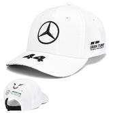 2019 Lewis Hamilton F1 White Baseball Cap Official Mercedes-AMG Formula One Team