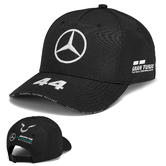 2019 Lewis Hamilton F1 Black Baseball Cap Official Mercedes-AMG Formula One Team