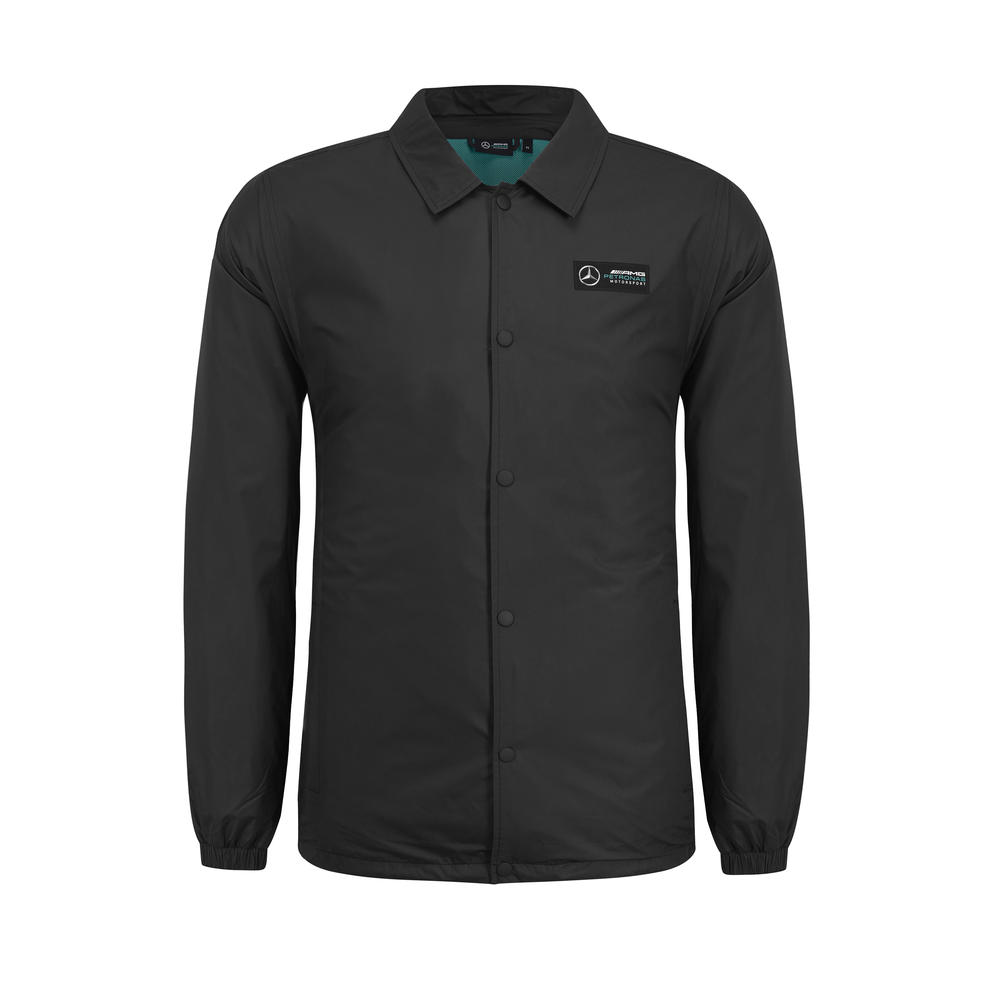 2019 Mercedes-AMG Official F1 Mens Fanwear Coach Jacket with Silver Arrows Logo