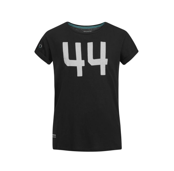 Lewis Hamilton #44 Logo Ladies T-Shirt Tee Womens Girls 2019 Mercedes-AMG F1