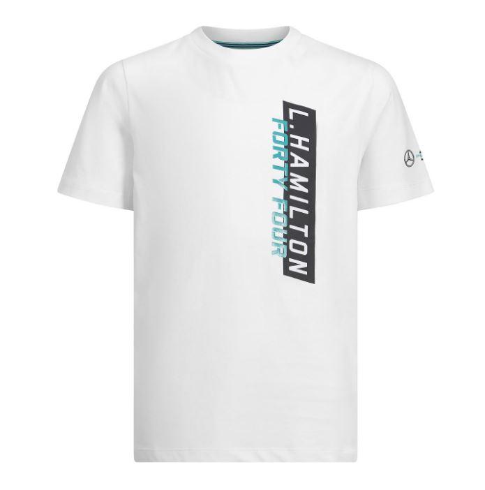 Lewis Hamilton Kids #44 Logo T-Shirt Childrens Boys Junior 2019 Mercedes-AMG F1