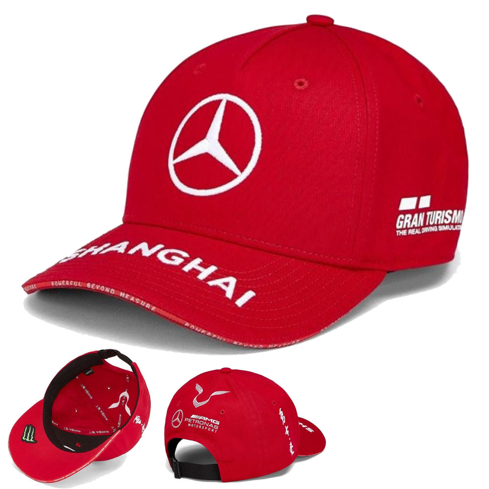 2019 Mercedes-AMG Lewis Hamilton Kids China GP Cap Red 2019 F1 Grand Prix Specia