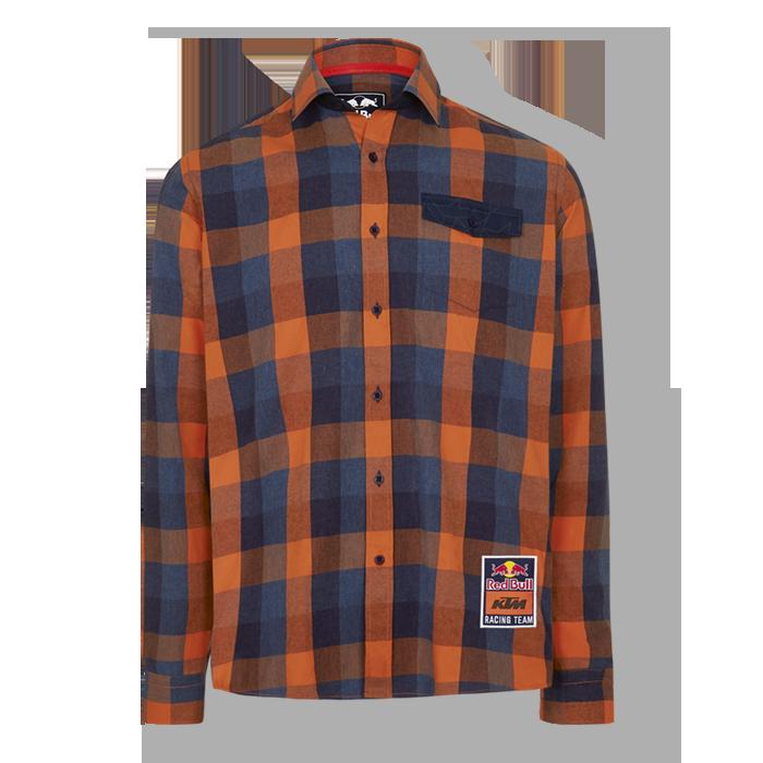 2019 Red Bull KTM Racing MotoGP MX Flannel Shirt Lumberjack Check Long Sleeve