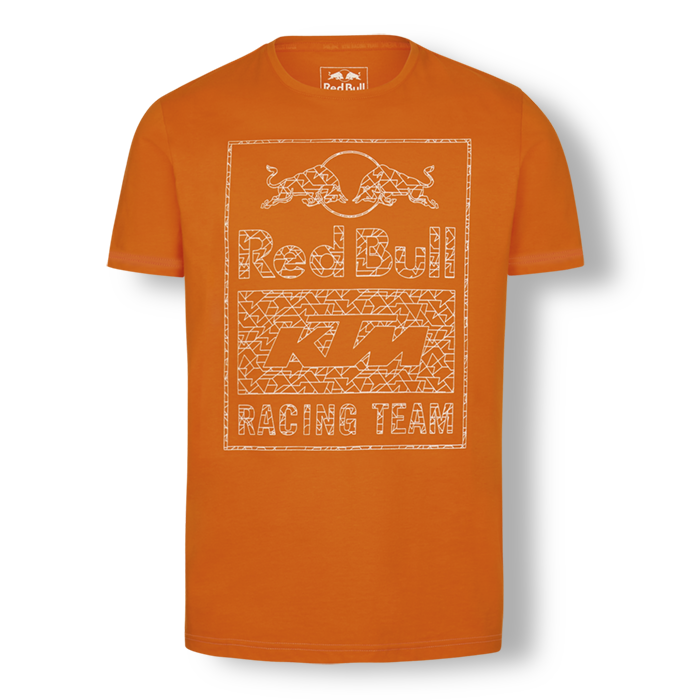 2019 Red Bull KTM Racing MotoGP MX Mens T-Shirt Orange Mosaic Graphic Logo Print