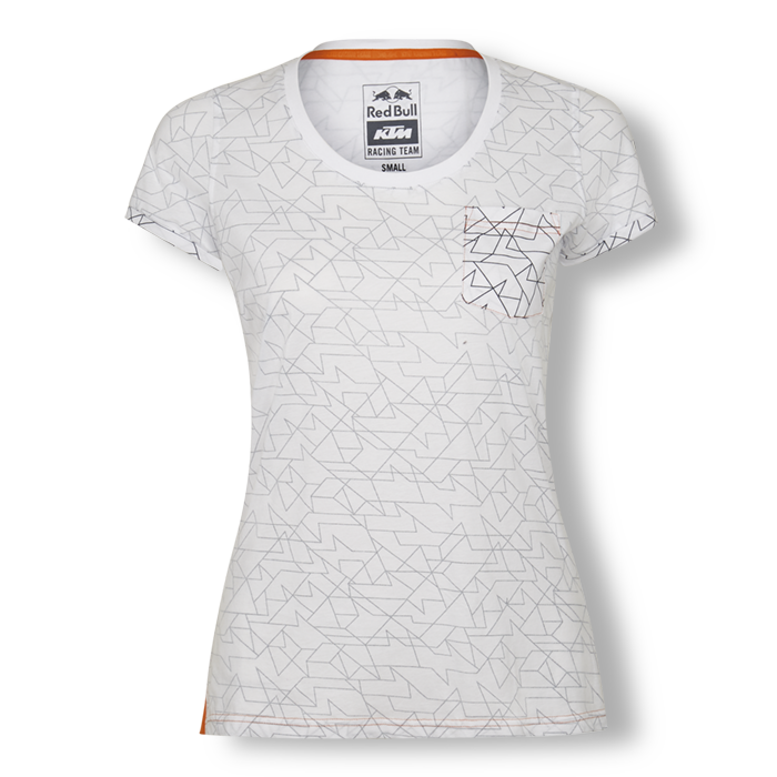 2019 Red Bull KTM Racing MotoGP MX Ladies Womens Fitted T-Shirt Inside Out Print