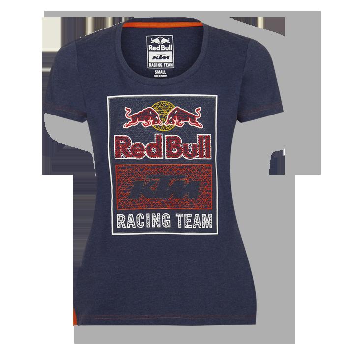 2019 Red Bull KTM Racing MotoGP MX BLUE Ladies Womens T-Shirt Mosaic Graphic