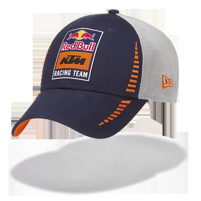 2019 Red Bull KTM Racing MotoGP MX Trucker Baseball Cap New Era 9Forty Grey/Navy