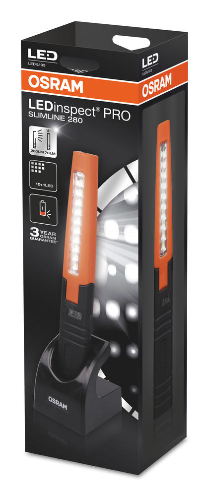 LEDIL301 OSRAM LED Inspection Light Pro Slimline 280 6000K Rechargeable Battery