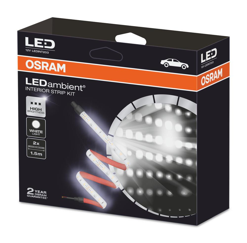 LEDINT203 OSRAM LED Vehicle Interior Strip Light Kit 3 Metre 4500K 2x900 Lumen