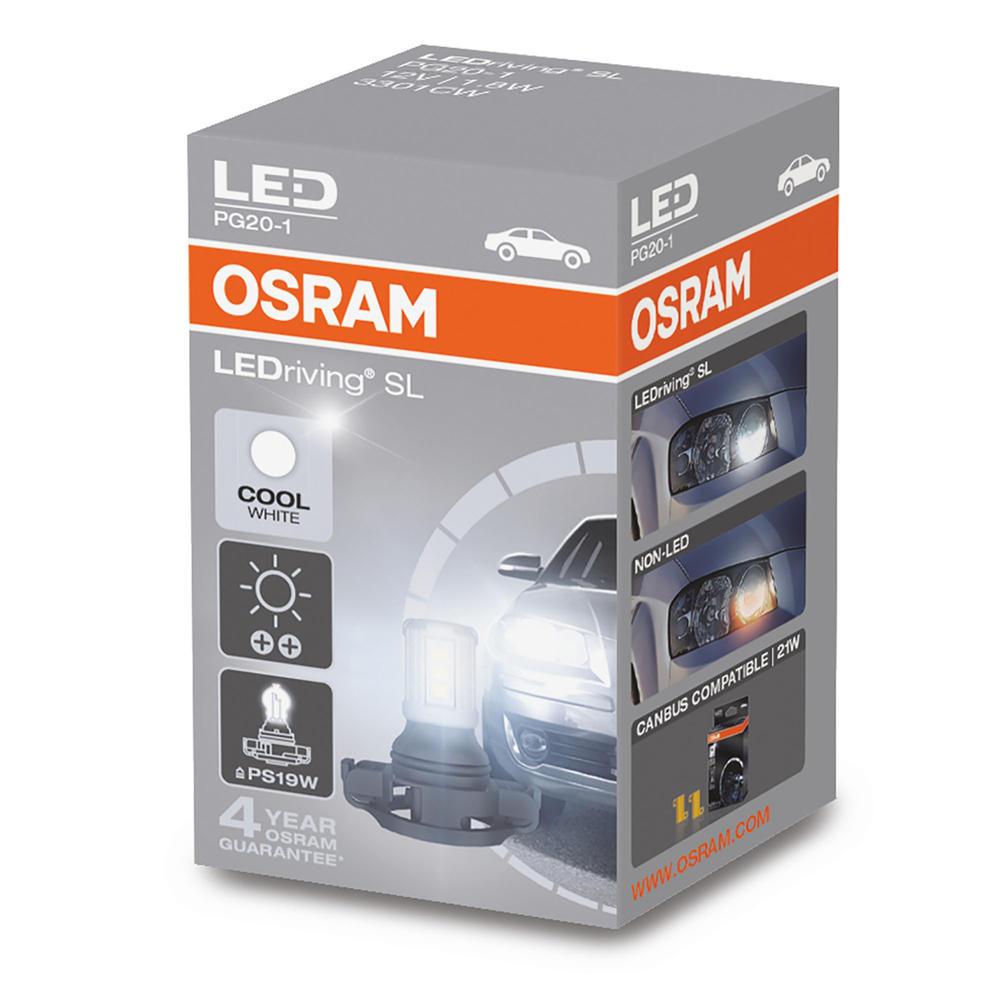 Osram PS19W (3301CW) LED SL Cool White 6000K Bulb for DRL Daytime Running Lights