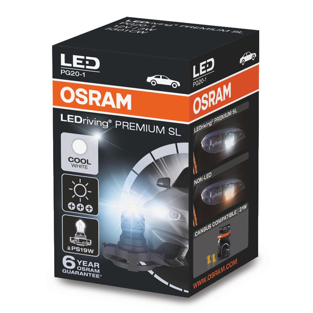 Osram PS19W (5301CW) Premium LED Cool White 6000K Bulb DRL Daytime Running Light