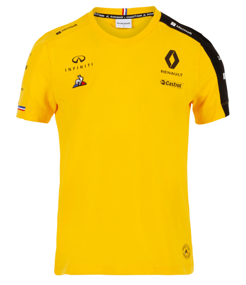 2019 Renault F1 Team Official Ladies T-Shirt YELLOW Tee in Womens & Girls Sizes