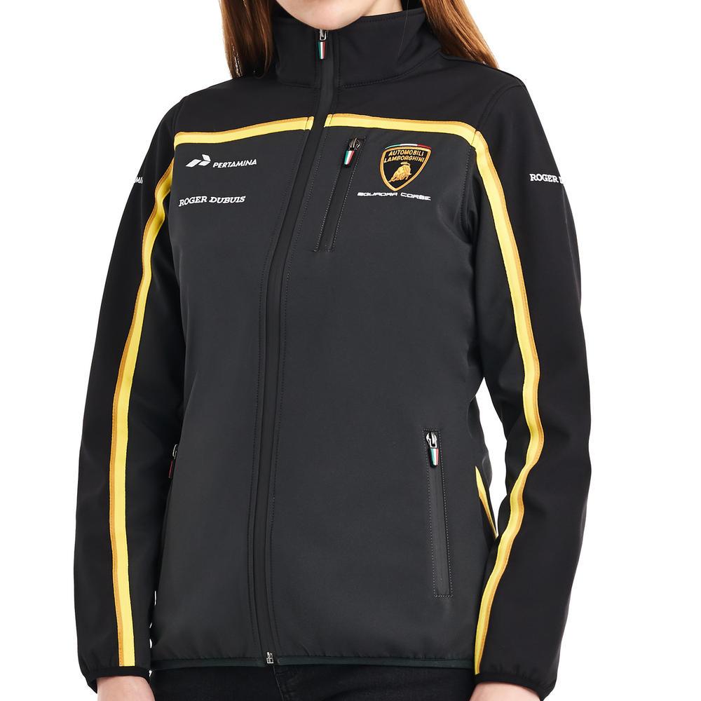 Special Edition Lamborghini Squadra Corse Ladies Softshell Fleece Jacket Womens