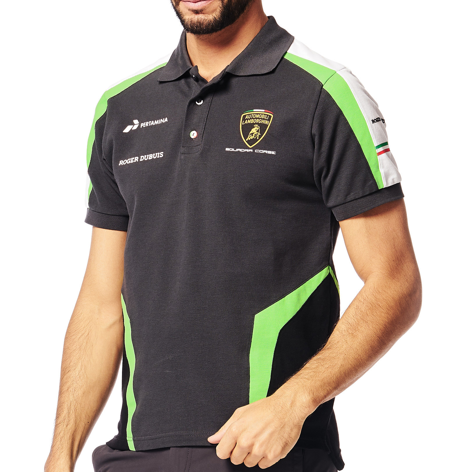 LAMBORGHINI SQUADRA CORSE Polo Kids White FREE SHIPPING TO GERMANY