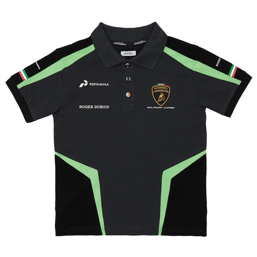Lamborghini Squadra Corse Mens Team Polo Shirt Black GT GT3 Team Racing