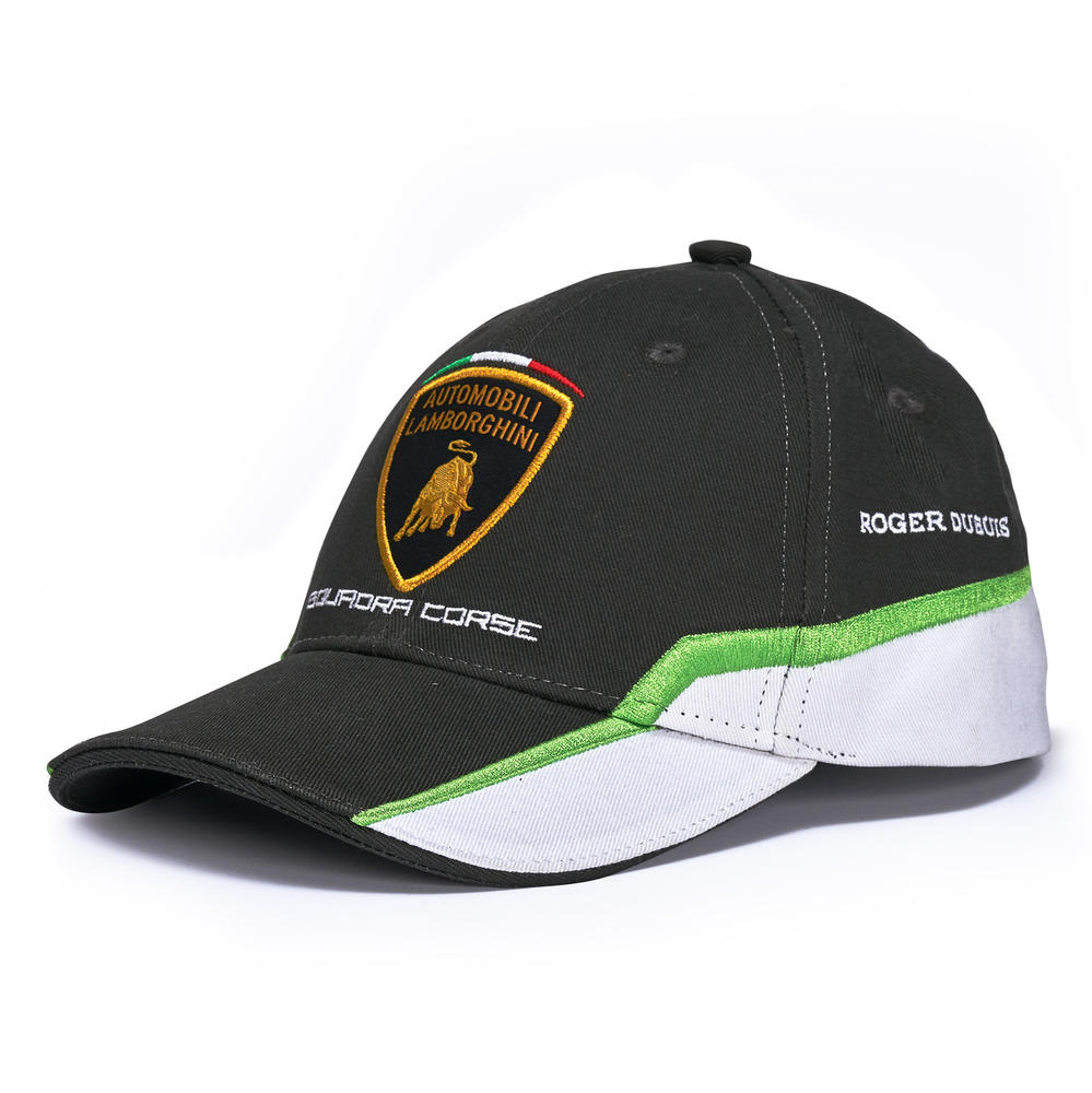 Lamborghini Squadra Corse Childrens Kids BLACK Baseball Cap GT3 Team Racing
