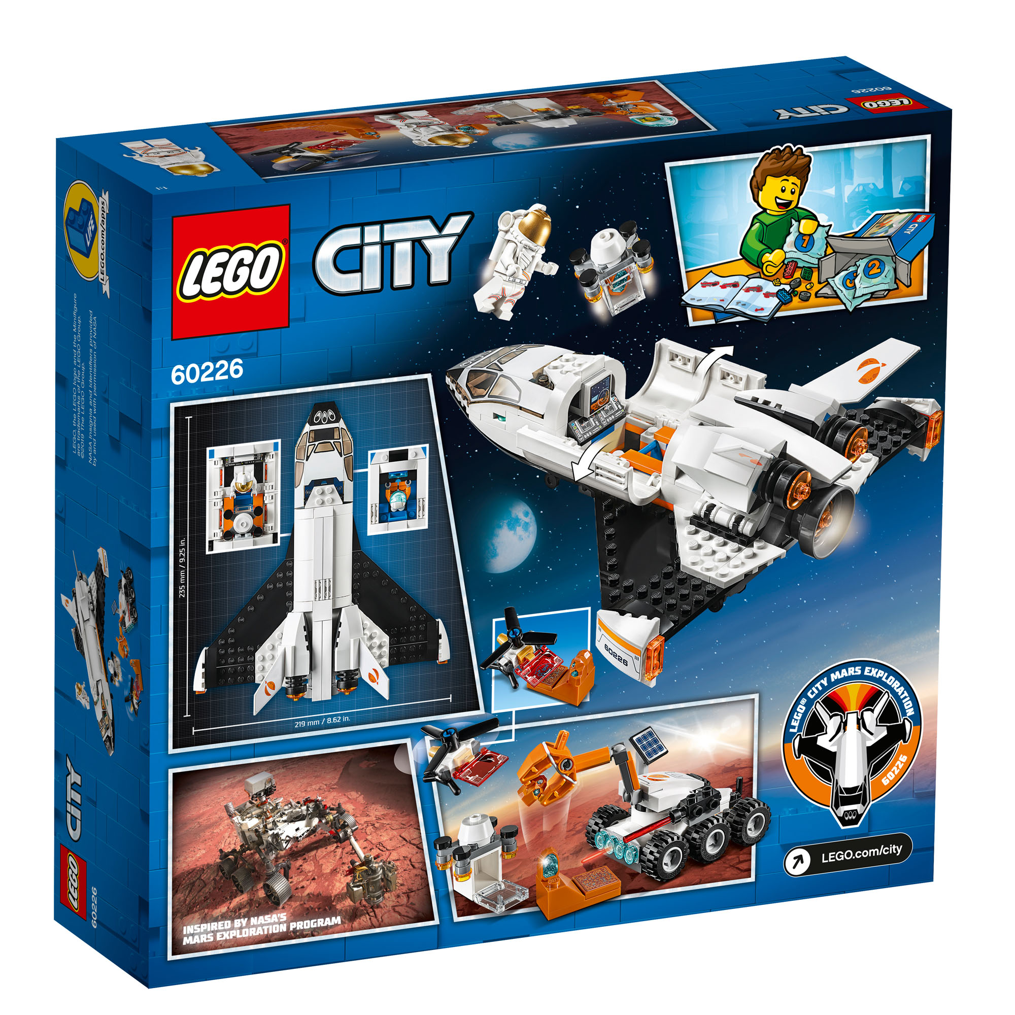 60226 LEGO City Space Port Mars Research Shuttle Spaceship ...