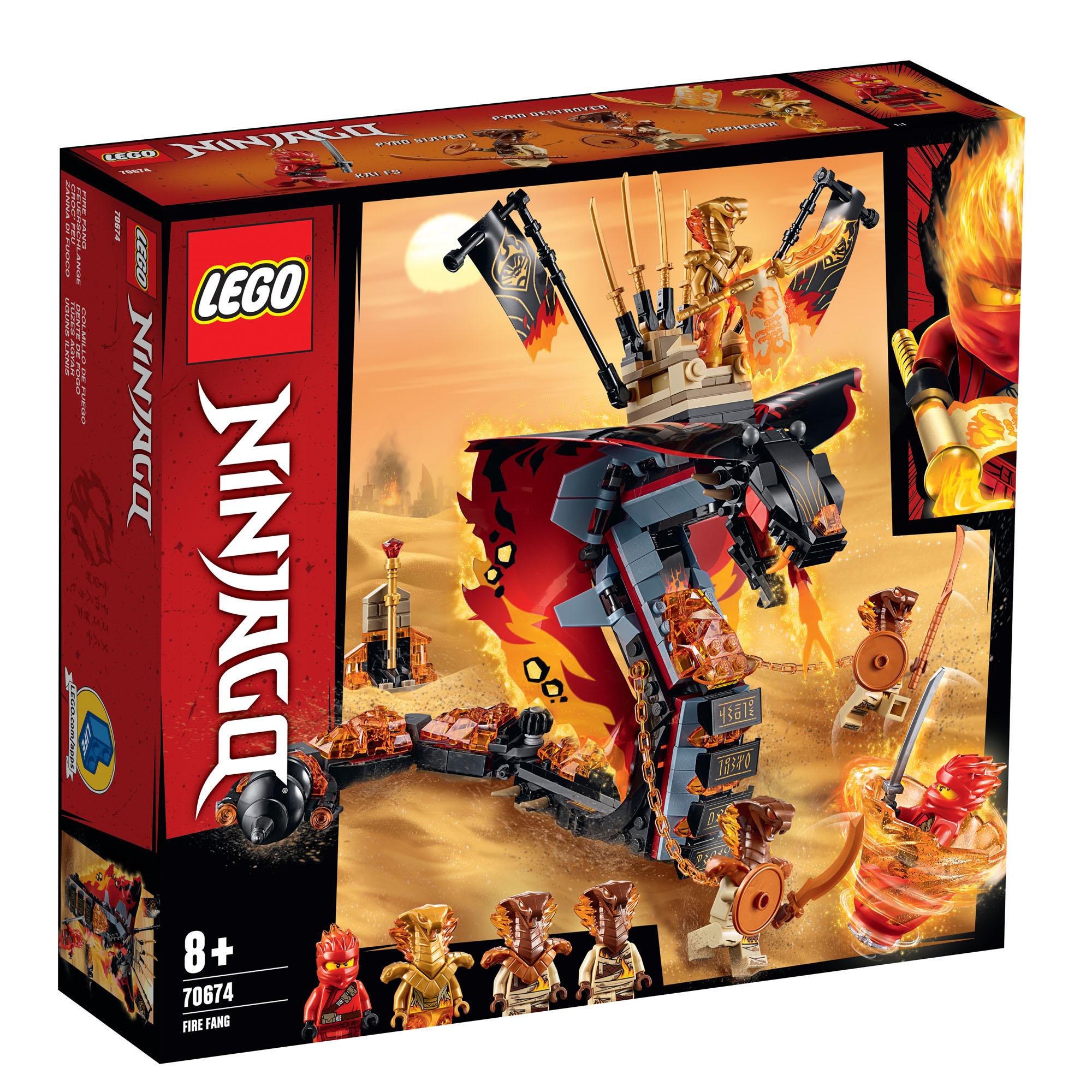 Lego Ninjago feu Fang 70674 Neuf en Boîte Pour Âges 8 Ans Et Up