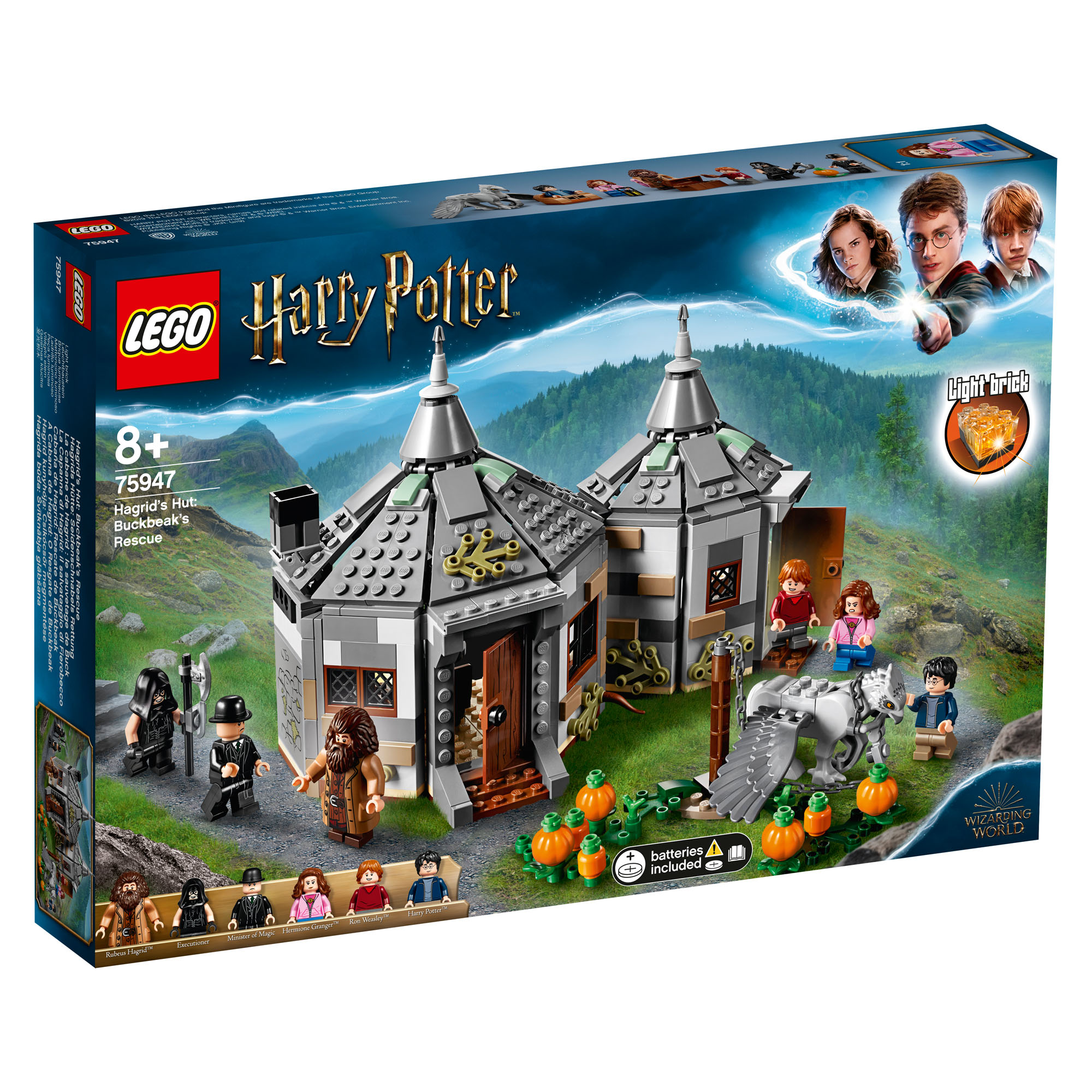 Details About 75947 Lego Harry Potter Hagrid S Hut Buckbeak S Rescue With Hippogriff 496pcs