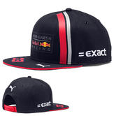 New! 2019 Max Verstappen Flatbrim Cap Adult Size Aston Martin Red Bull F1 Team