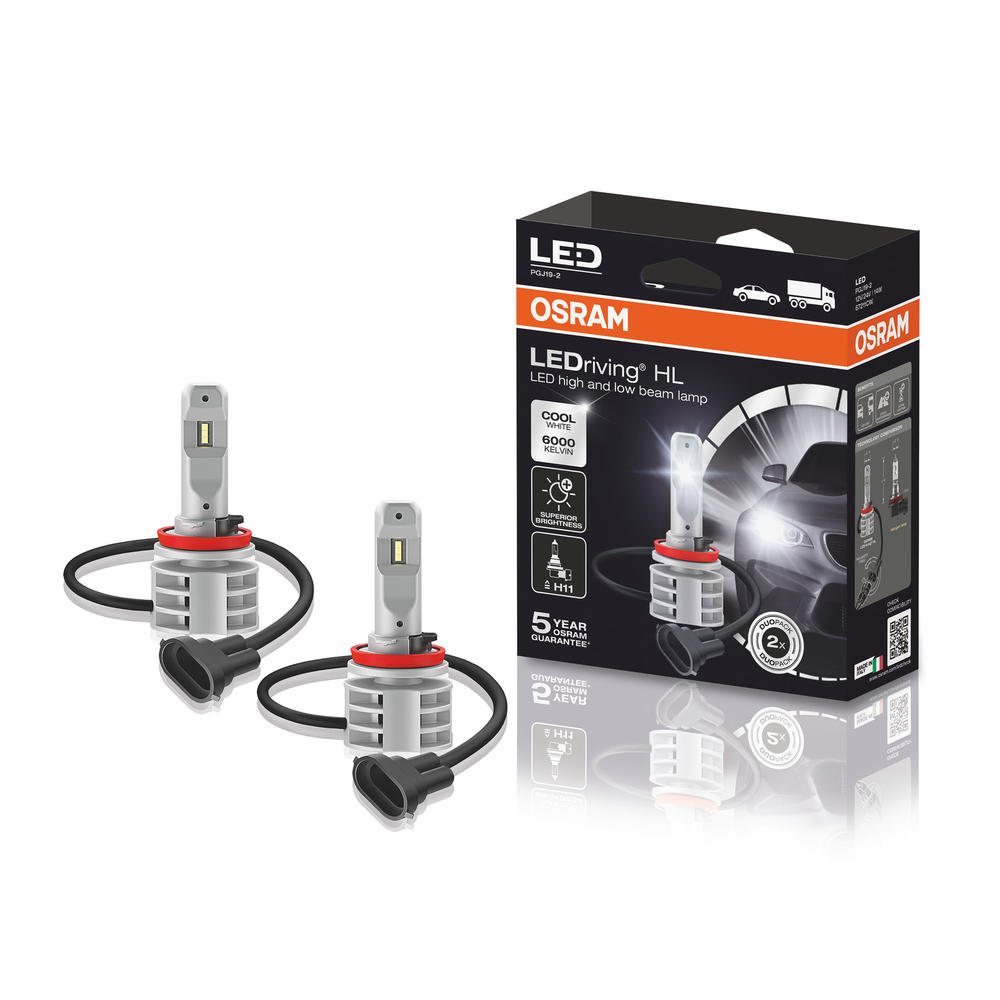 OSRAM LEDriving HL Gen 2 H11 LED 6000K Cool White Headlight Bulb Kit 67211CW