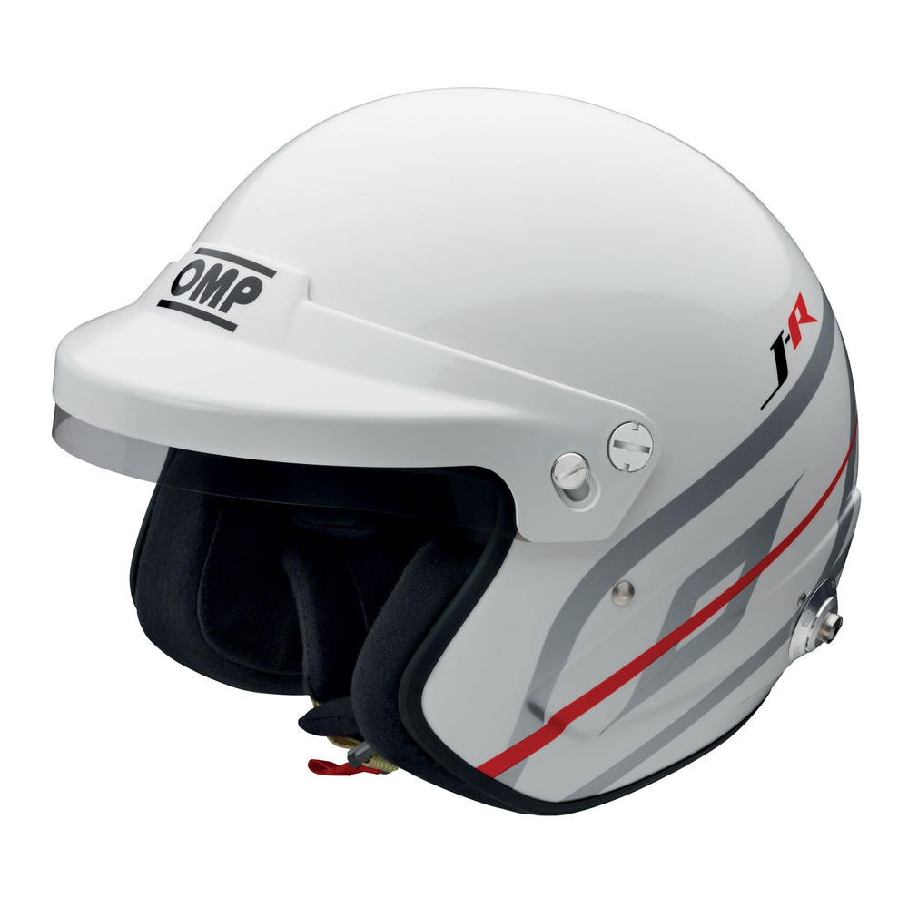 SC795 OMP Racing J-R HANS Open Face Crash Helmet FIA 8859-2015 Approved