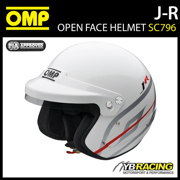 SC796 OMP Racing J-R Jet Open Face Helmet Casco FIA 8859-2015 Race Rally Track