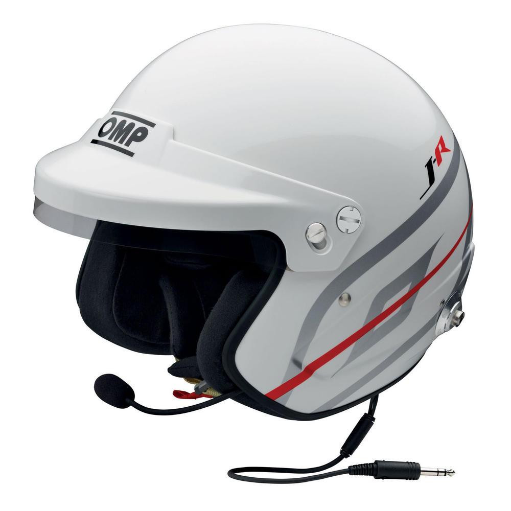 SC797 OMP J-R Helmet Hans Intercom Casco Jet Open Face Race FIA 8859-2015