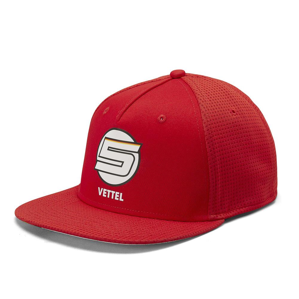 2019 Scuderia Ferrari Sebastian Vettel Flat Brim Baseball Cap Hat Adult Sizes